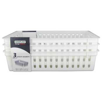 White Rectangle Utility Baskets
